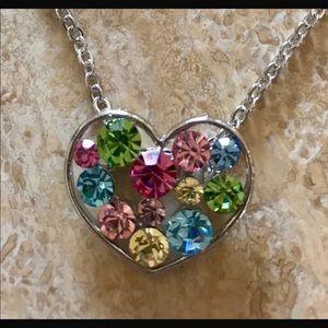 Jewelry - Necklace earrings Swarovski elements Heart